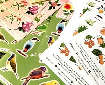 Pinoy Food, Fruits, Flowers & Birds Stickers