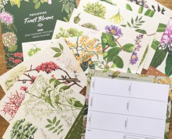 """Philippine Forest Blooms"" 2020 Desk Calendar and Notepad Set"