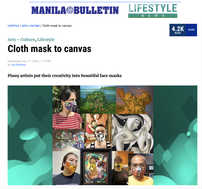 Philippine Native Trees Flora and Fauna Face Maskas