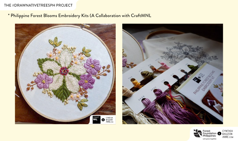 Philippine Forest Blooms Embroidery Kit